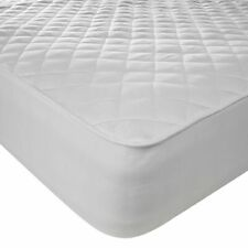 100%COTTON  QUILTED MATTRESS PROTECTOR FITTED SHEET SINGLE DOUBLE KING