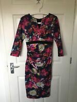 Women's Diva Catwalk Floral Fitted Dress Size M