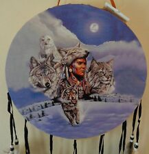 Indian with Animals Decorative Pow Wow Indian Drum New CLOSE-OUT ITEM