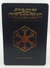 Star Wars Old Republic Collectors Edition Steel book Metal Tin With Discs PC