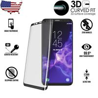 For Samsung Galaxy S9 Plus 3D Curved Tempered Glass Screen Protector Full Cover