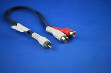 Audiokabel Adapter 1 x Cinchstecker auf 2 x Cinchkupplung Cinch-Verbindungskabel