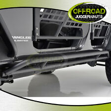 07-17 Jeep Wrangler JK Tubular 4 Door Rocker Sliders Side Armor Rocker Guards