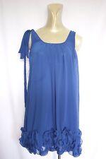 Woman's Blue Frill Dress - Caroline Morgan - Size 8 (8-10?)