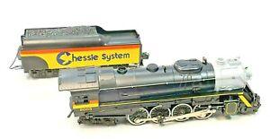 Vintage Lionel Chessie Die Cast 2 8 4 Berkshire Steam Special with Tender in OB