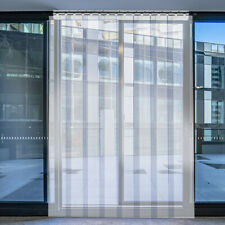 """VEVOR 4' x 8' Plastic Door Strip Curtain 8"""" Freezer Walk In 48"""" x 96"""" PVC Vinyl"""