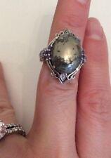 Metal Ring- Marked Karis sts sterling? silver?
