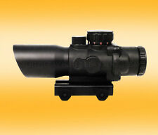 4× TRICOLOR CROSSHAIRS Tactical Rifle Scope PICATINNY WEAVER MOUNT