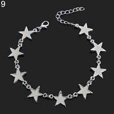 EG_ Creative Glow In The Dark Luminous Bracelet Star Love Heart Flower Bangle So
