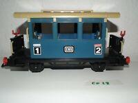 Playmobil Eisenbahn Personenwagen hell blau auch für LGB o. Piko Gartenbahn ED28