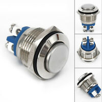 1PC 12VDC Waterproof Metal 16mm Push Button Momentary Horn Switch Starter Button