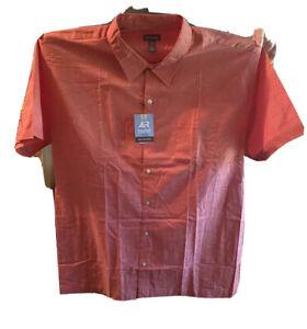 Mens Van Heusen Short Sleeve Shirt Air ALL OVER COOLING   2xl BNWT 18-18 1/2
