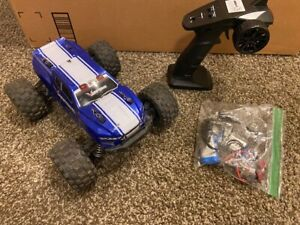 Redcat Racing Volcano 1:16 Electric Brushed 4WD Monster RC Truck Blue