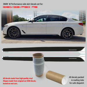 BMW M Performance Side skirt decals Set for M5 G30 /G31/F90