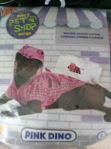 Rubie's Pet Shop Boutique Pink Dino Dog Costume Size L