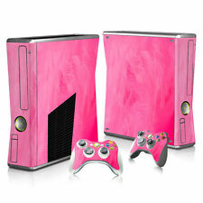XBOX 360 Slim Skin Sticker Decal Cover + 2 Controllers PINK BLUSH