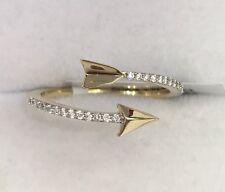 14k Solid Yellow Gold Cute Arrow Diamond 0.11CT. Ring. Original Price $1,300.