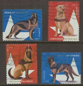 Scott #5405-08 Used Set of 4, Military Dogs (Off Paper)