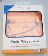 Plantronics .Audio 480 Virtual Phone Booth USB Black In-Ear Only Headset + Case