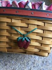Longaberger 2001 All American Strawberry Basket Combo, pre-owned