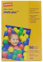Staples Photo Plus 4 X 6 inch Glossy Photo Printer Paper - 60 Sheets