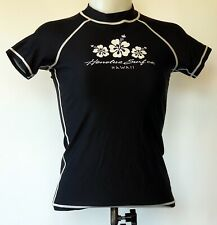 New listing Honolua Surf Co Black Rash Guard Nylon/Lycra S/S Swim Top Shirt M Jr Made in Usa