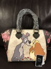 NWT Loungefly Disney Lady And The Tramp Floral Satchel Bag Handbag Purse