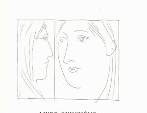 PICASSO LIMITED EDITION FACSIMILE ETCHING FROM 'METAMORPHOSES'  1970