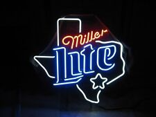 "New Miller Lite Texas Beer Sign 19""x15"" Ship From USA"
