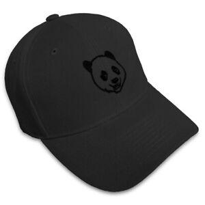 Dad Hats for Men Panda Bear Face Embroidery Women Baseball Caps Strap Closure