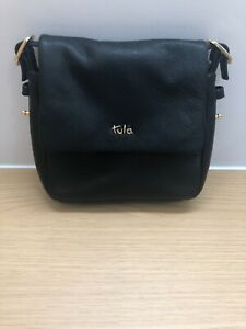 Tula small cross body bag in black leather - new