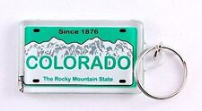 "Colorado State License Plate Acrylic Rectangular Souvenir Keychain 2.25"" X 1.25"""