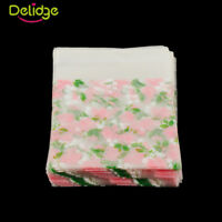 100pcs Self Seal Adhesive Rose Flower Plastic Cellophane Cookies Candy Gift Bags