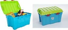 SET OF 2 PLASTIC STORAGE BOX KIDS TOY TRUNK WHAM STACKABLE Tough Cart Container