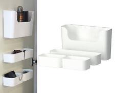 IKEA 7 pc container w/ rails desk organizer phone make up holder kitchen PLUGGIS