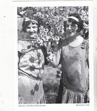 "*Postcard-""2 Girls Posing Among The Peach Trees"" -1930- *Modesto, Ca. (#104)"
