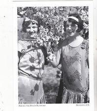 "*Postcard-""2 Girls Posing Among The Peach Trees"" -1930- *Modesto, Ca. (#104)"