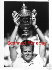 STEFAN EDBERG Terrific WIMBLEDON TV Photo