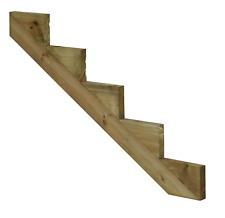 PLUS Treppenwange Treppenwangen 5 Stufen für Holz Treppe druckimprägniert Außen*