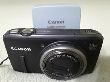 Canon PowerShot SX260HS 12.1MP 20X/4X Zoom, Compact Digital Camera, Tested