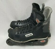 Vintage Bauer Pro Off Ice Hockey Inline Skates Super Light Chassis Size 8