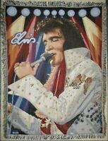 Elvis Presley Blanket Throw EPE Fringed Tapestry Northwest Company USA High Bulk