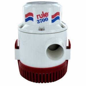 """Rule 3700 Gph Non Automatic  Bilge Pump 1-1/2"""" Outlet 12V 14A"""