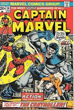 Captain Marvel Comic Book 30, Marvel Comics 1974 VERY FINE/NEAR MINT
