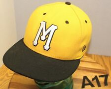 20532deac92 NEW ERA MICHIGAN WOLVERINES HAT GOLD BLACK FITTED SIZE 7 VERY GOOD  CONDITION A17