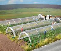 BNIB OO / HO BUSCH 1399 FARM POLYTUNNELS - KIT CONTAINS 2 TUNNELS