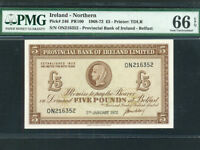 Northern Ireland:P-246,5 Pounds,1972 * Provincial Bank * PMG Gem UNC 66 EPQ *
