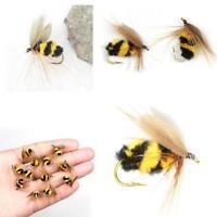 10Pcs / Lots Schaum Bumble Bee Nymph Forelle Fliegt Fliegenfischen Haken Bi R6O8