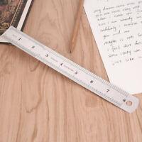 8E4E Double Sided Straight Edge Small Ruler Straight Ruler Steel Ruler