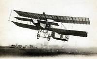 OLD PHOTO Early Aviation Circa 1910S The Frenchman M Henri Farman Flying